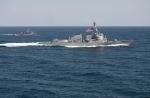 The USS Lassen patrolling waters east of the Korean peninsula in March, 2016.